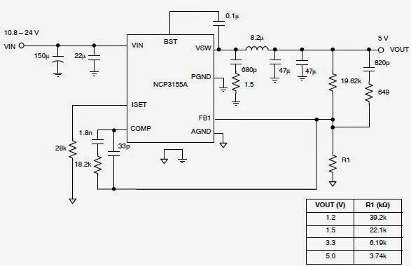 5 Volt Regulator Using by NCP3155