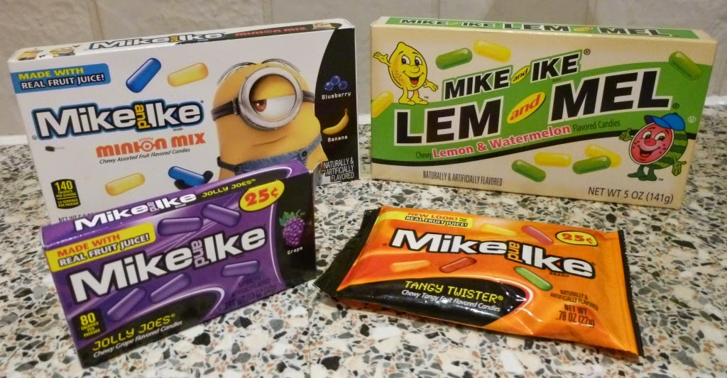 The Mike and Ike sweets Minion Mix, Jolly Joes, Tangy Twister and Lem and Mel are all gluten free