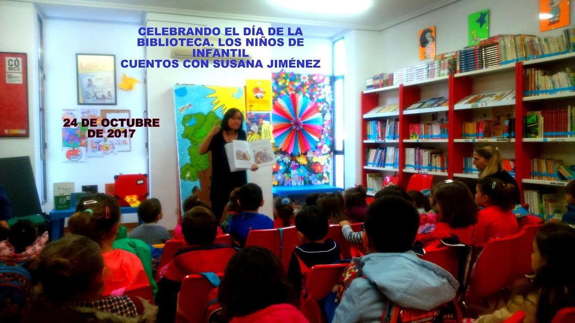 SUSANA JIMÉNEZ CUENTA CUENTOS A LOS CHICOS DE EDUCACIÓN INFANTIL, 24/10/2017