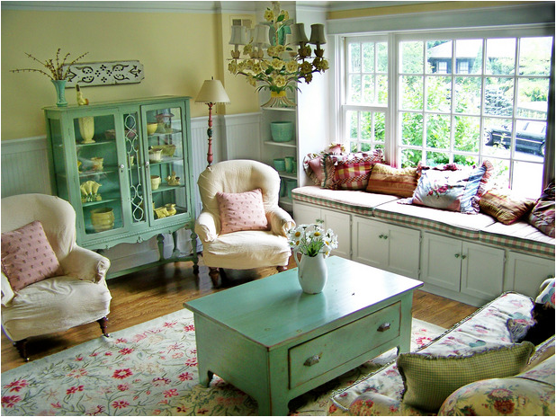 Cottage Style Living Rooms Prepossessing With Cottage Style Decorating Living Room Photo