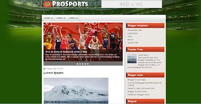 template blogspot untuk sepakbola