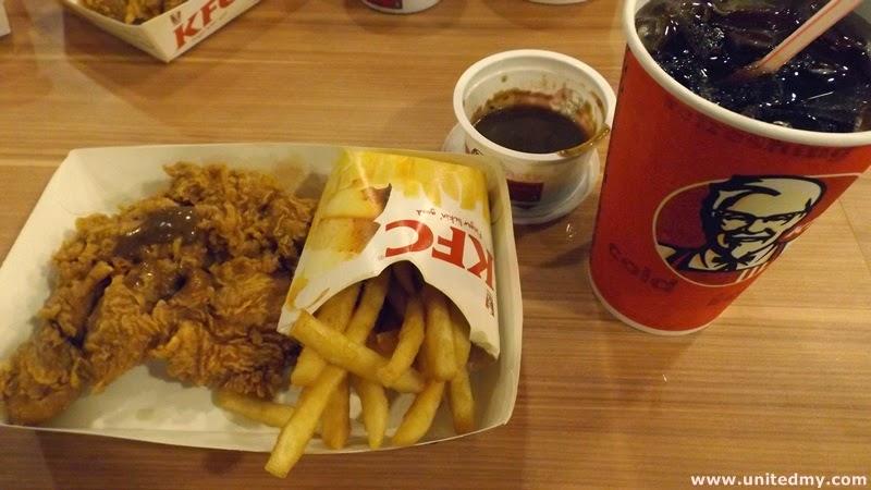 KFC Malaysia Tokyo Black pepper mushroom chicken chop