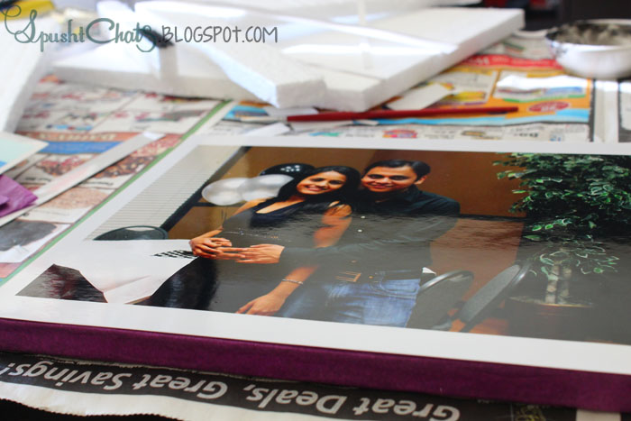 SpushtChats | Inexpensive DIY photo canvas idea