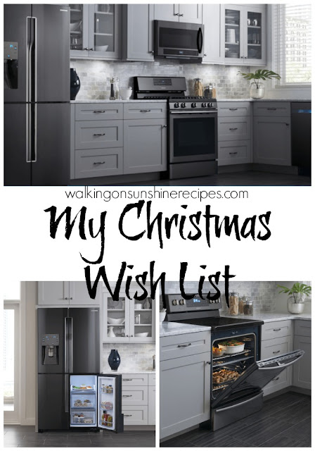 On my Dream Kitchen Appliance Wish List is the new Black Stainless Steel line from Samsung available at Hhgregg.