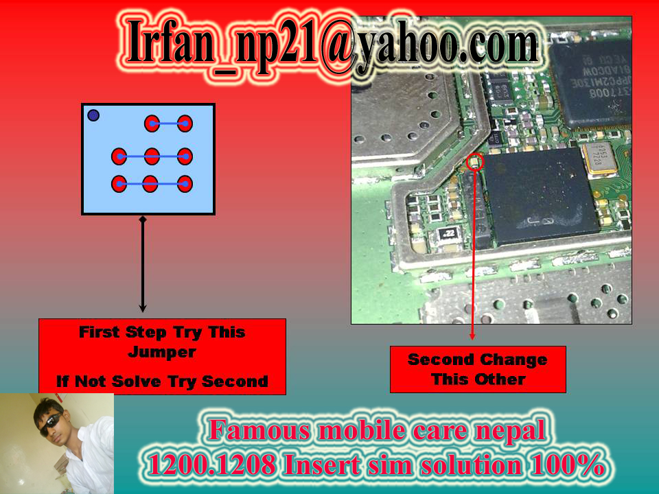 nokia 1200,1208,1650 insert sim solution