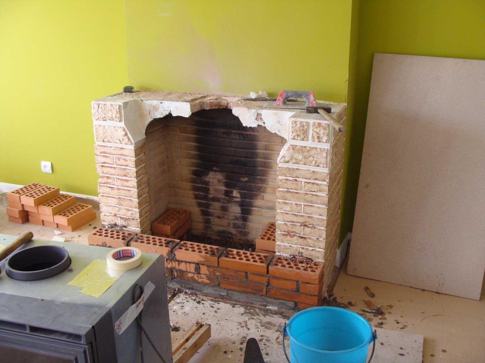 Andocarpinteando montaje de chimenea y reducci n de - Chimenea hace humo solucion ...
