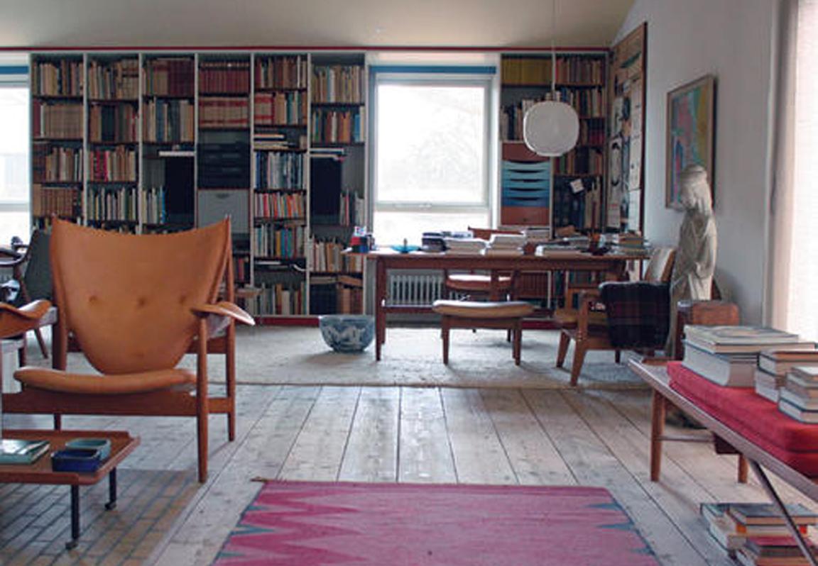 black white yellow finn juhl 39 s house. Black Bedroom Furniture Sets. Home Design Ideas