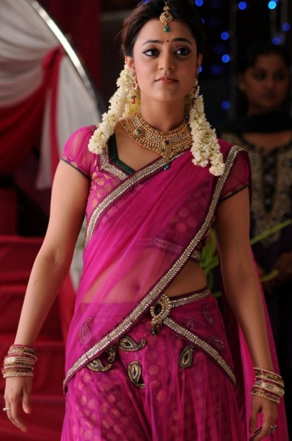 Nisha Agarwal navel, Nisha Agarwal in pink half sare