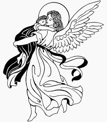 angeles angeles para colorear