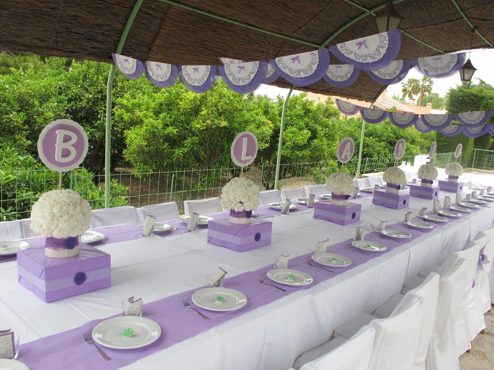 Cumpli2 1 comuni n de blanca - Mesas decoradas para comunion ...