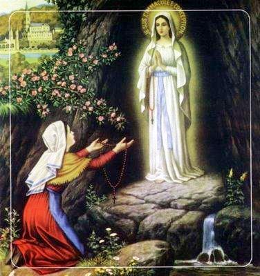Nuestra Señora de Lourdes con Bernadette Soubirous