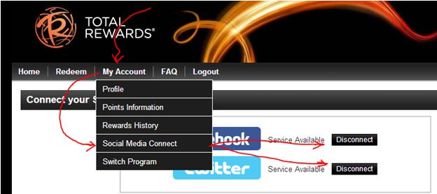 Make Sure You Are Connected To Both Facebook And Twitter When Say Service Available Click On The Home Is Easily