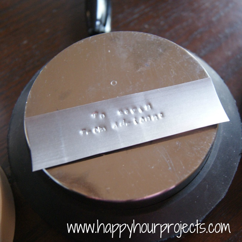 Hand-Stamped Gifts Tags with ImpressArt Metal StampsHappy Hour