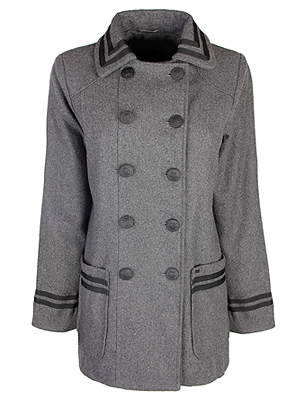 Grey Fashion Union Coat