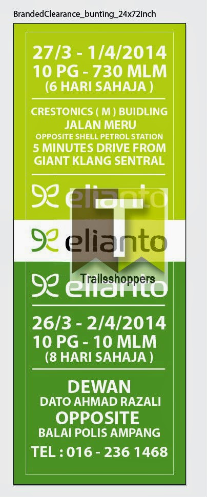 Elianto Branded Warehouse Sale Crestonics Klang Ampang