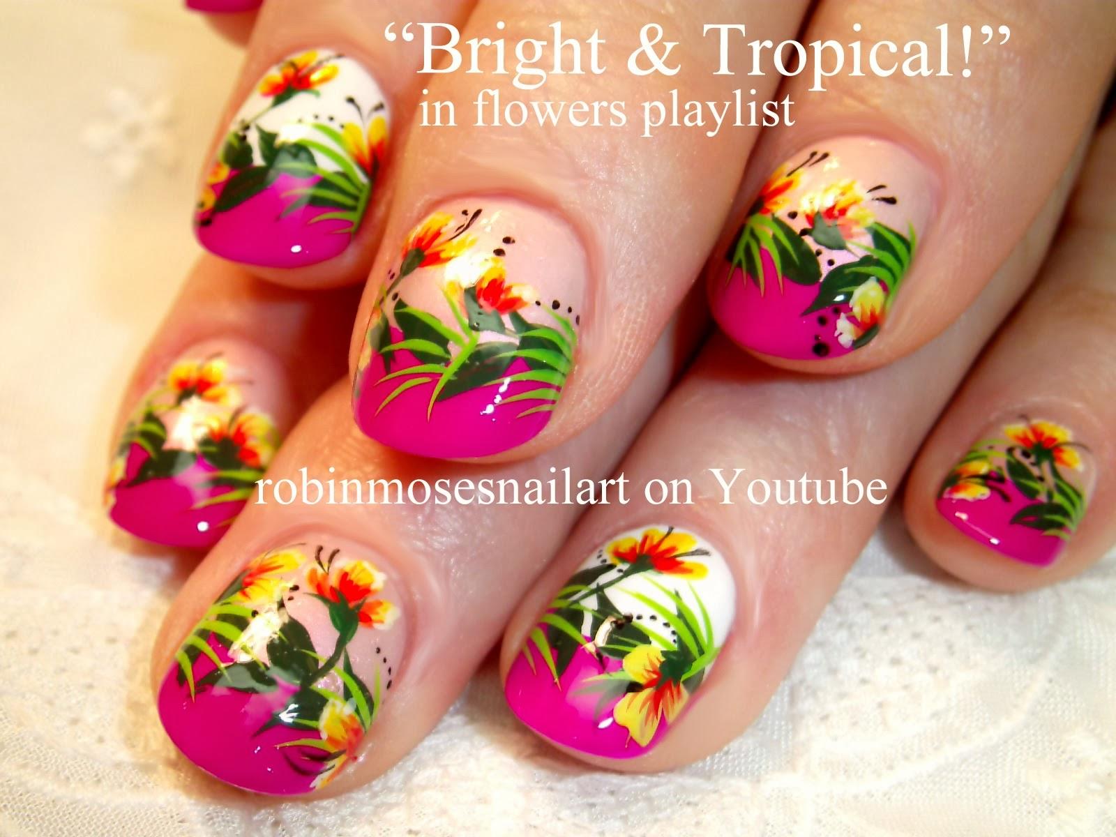 Robin moses nail art tropical nail art coral nail art neon nail art diva bling swag prinsesfo Image collections
