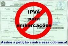 Contra a cobrança de IPVA de embarcações