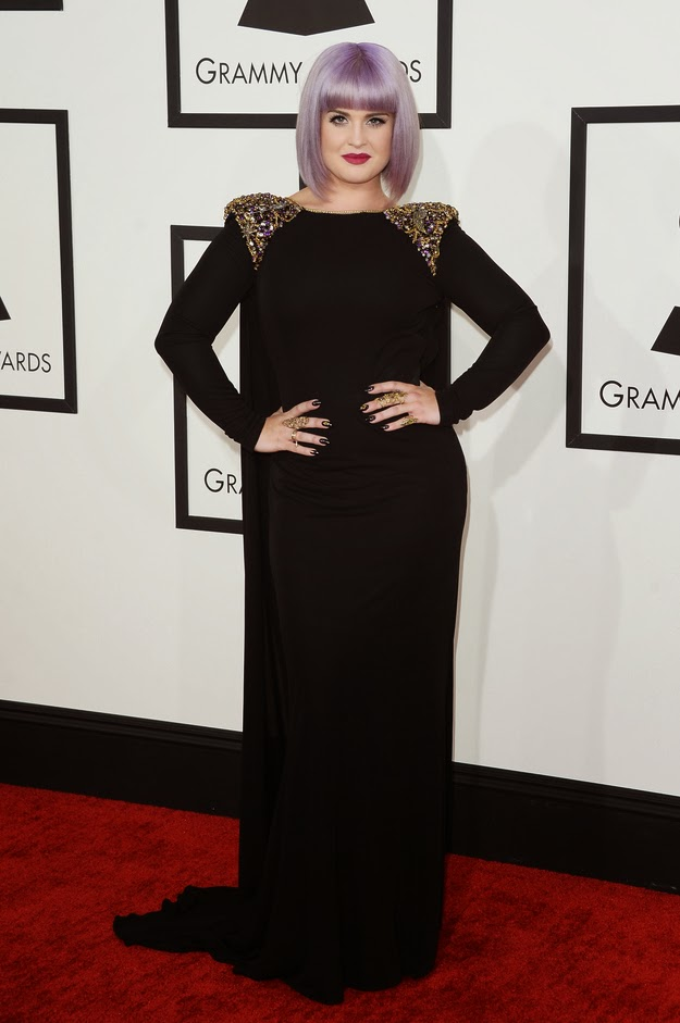 Kelly Osbourne in Badgley Mischka at the Grammys