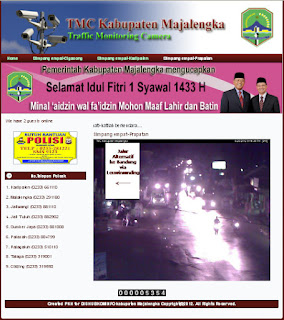 "Screen Shot website ""tmc.majalengkakab.go.id"" Traffic Monitoring Camera Kabupaten Majalengka"