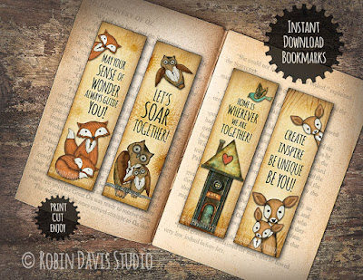 Encourage Reading - Special Bookmarks for Kids by Robin Davis Studio