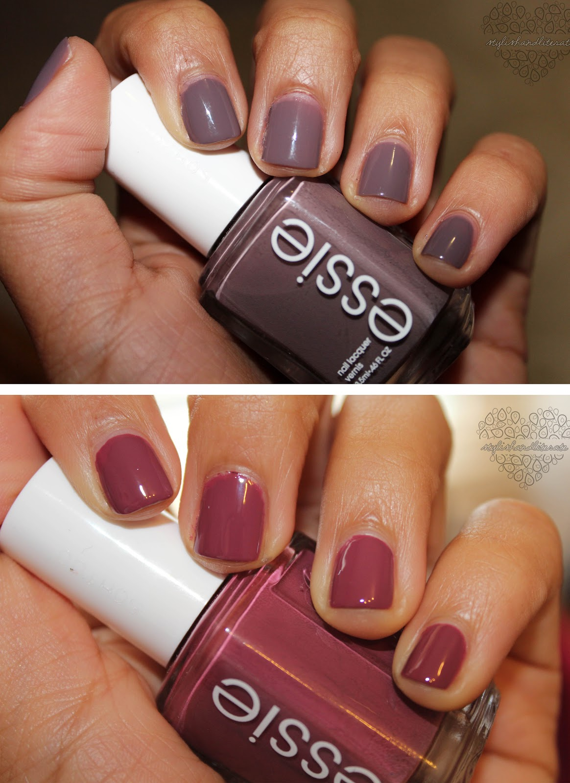 Nails of the Week No.1: Essie Merino Cool & Essie Angora Cardi ...