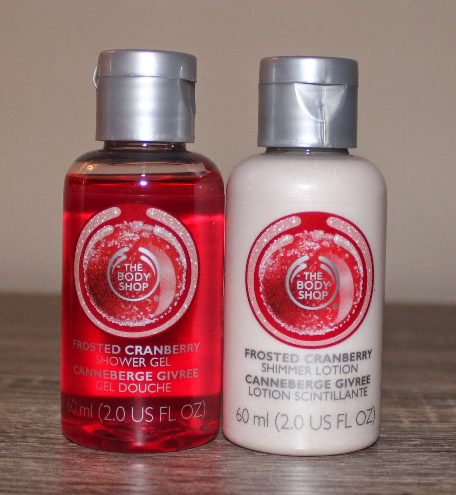 The Body Shop Frosted Cranberry Shower Gel & Shimmer Lotion