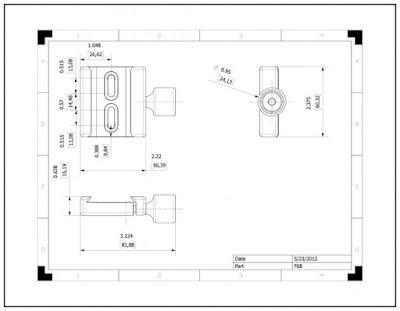 Hejnar PHOTO F68 Dual Captive Slot QR Clamp drawing