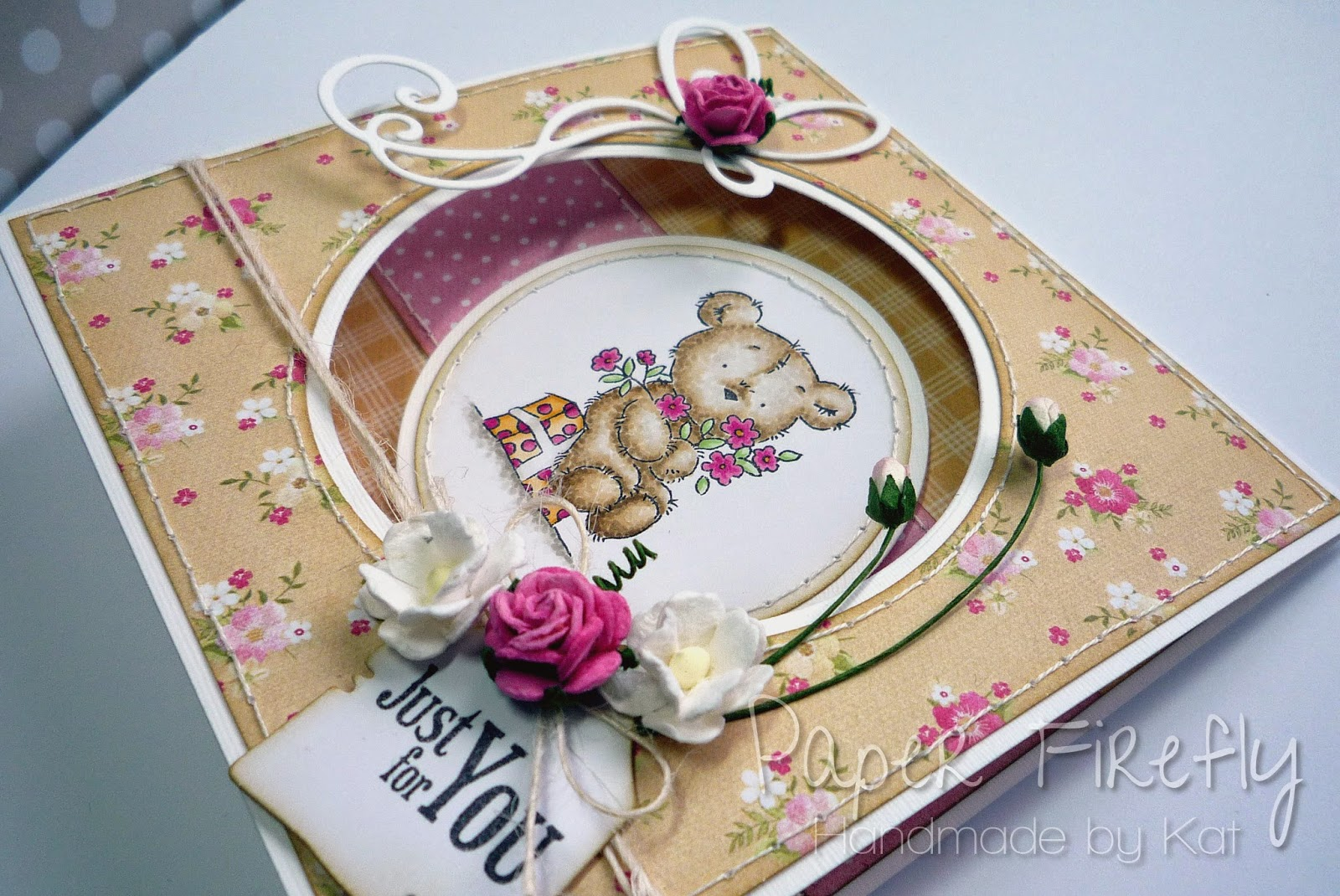 Tent fold card featuring LOTV happy bear
