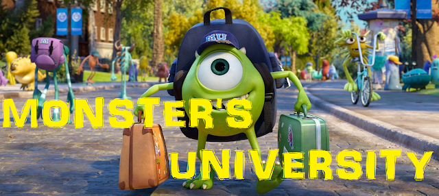 Mike arriving at university in Monster's University