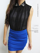 Bling collar chiffon top