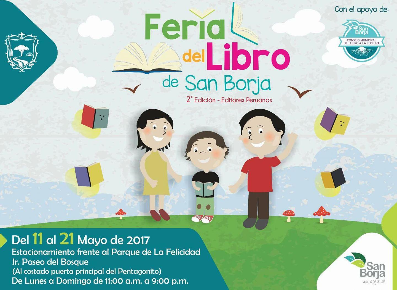 En 2da Feria de libro de San Borja (11 - 21 mayo 2017)