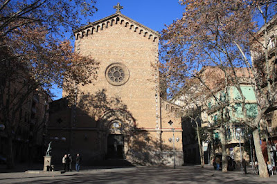 Plaça de la Virreina in the center of Gràcia district in Barcelona
