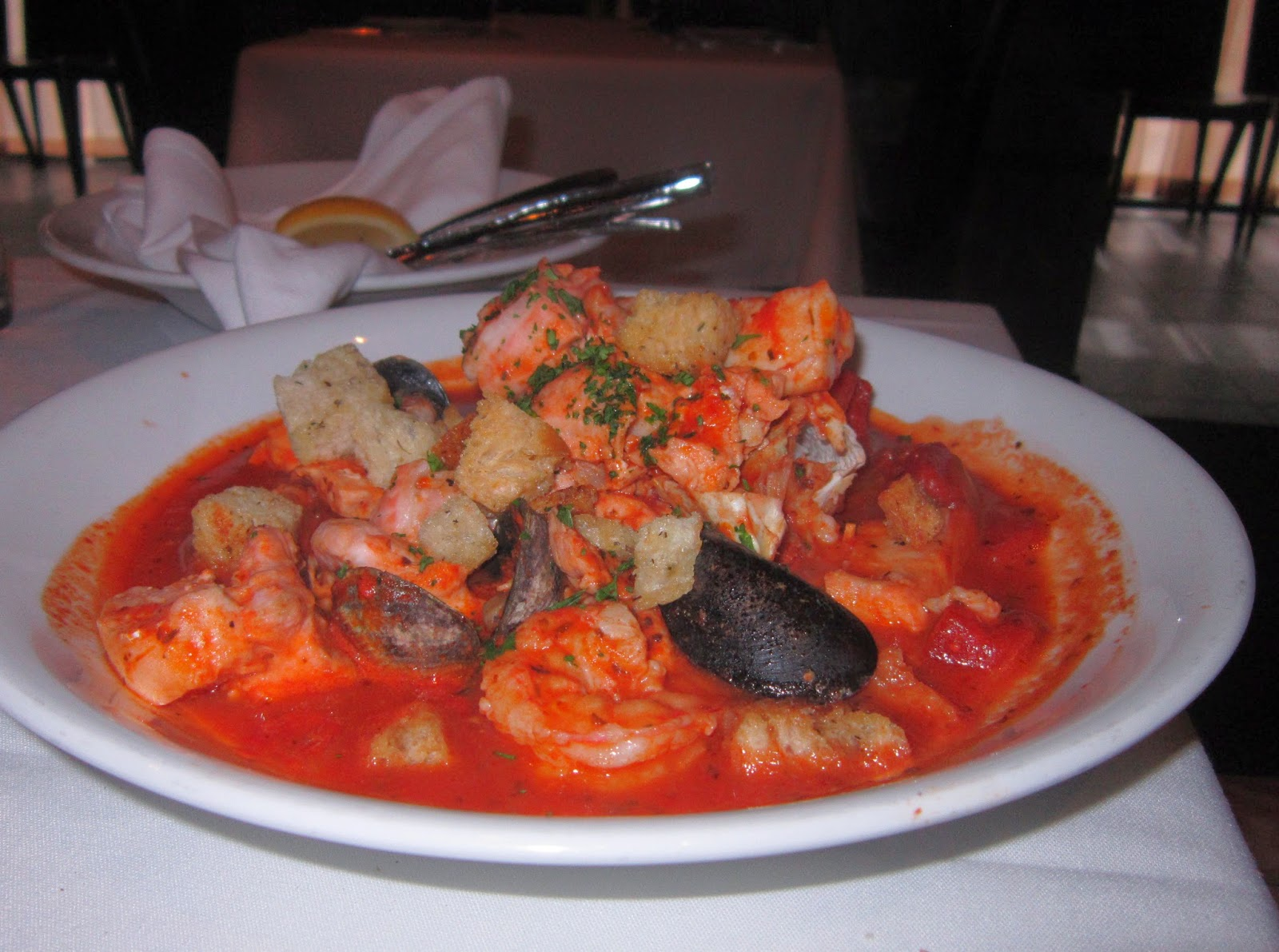 The Boys Both Ordered San Francisco Cioppino And It Came Out Bright Full Of Wonders From Sea Large Pieces Crab Shrimp Salmon Halibut