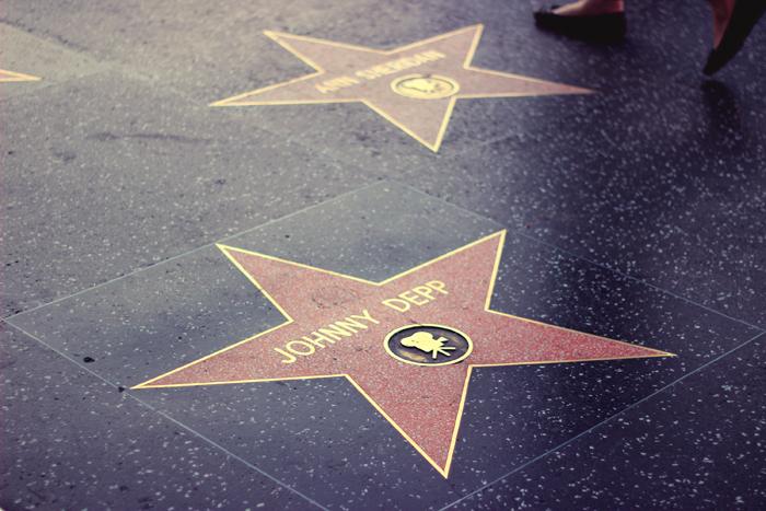 aimerose hollywood walk of fame johnny depp