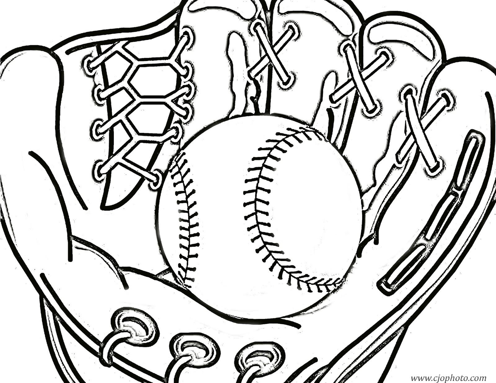 CJO Photo: Baseball Coloring Page