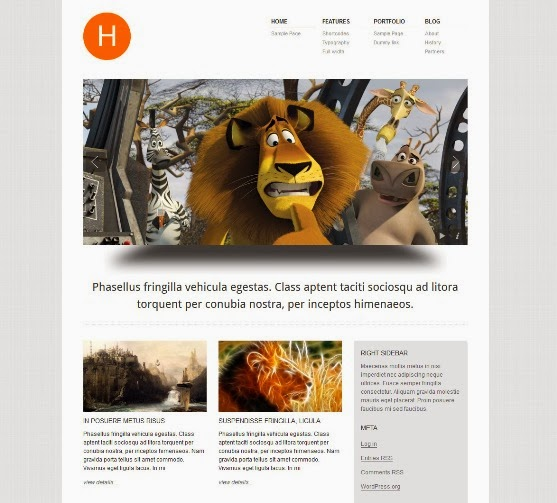 Hydrogen WordPress Portfolio Theme