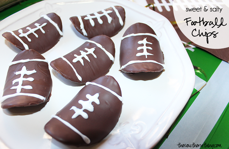 chocolate covered football chips tutorial