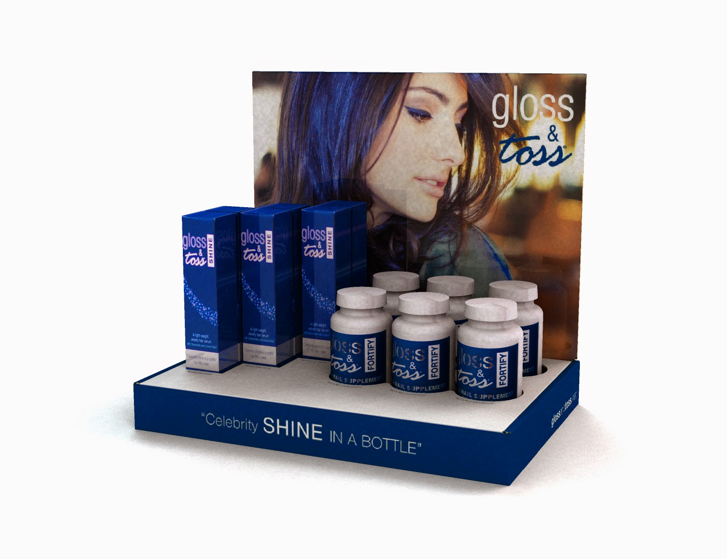 GLOSS & TOSS - CELEBRITY HAIR SHINE SERUM