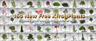 Gratisan 150 3D Model Tanaman dari XfrogPlants