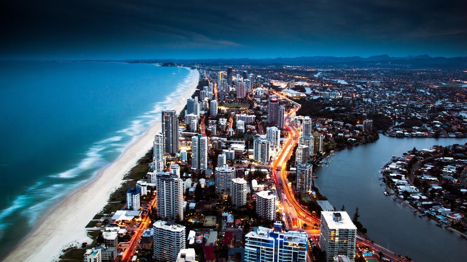 Beach Side City Wallpaper HD 1080p