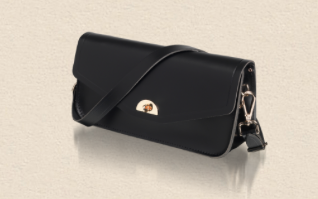 black cambridge satchel clutch