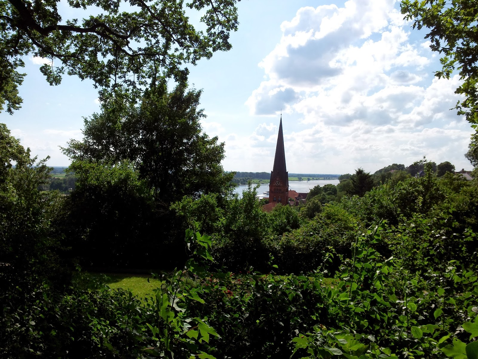 view from Lauenburg castle tower