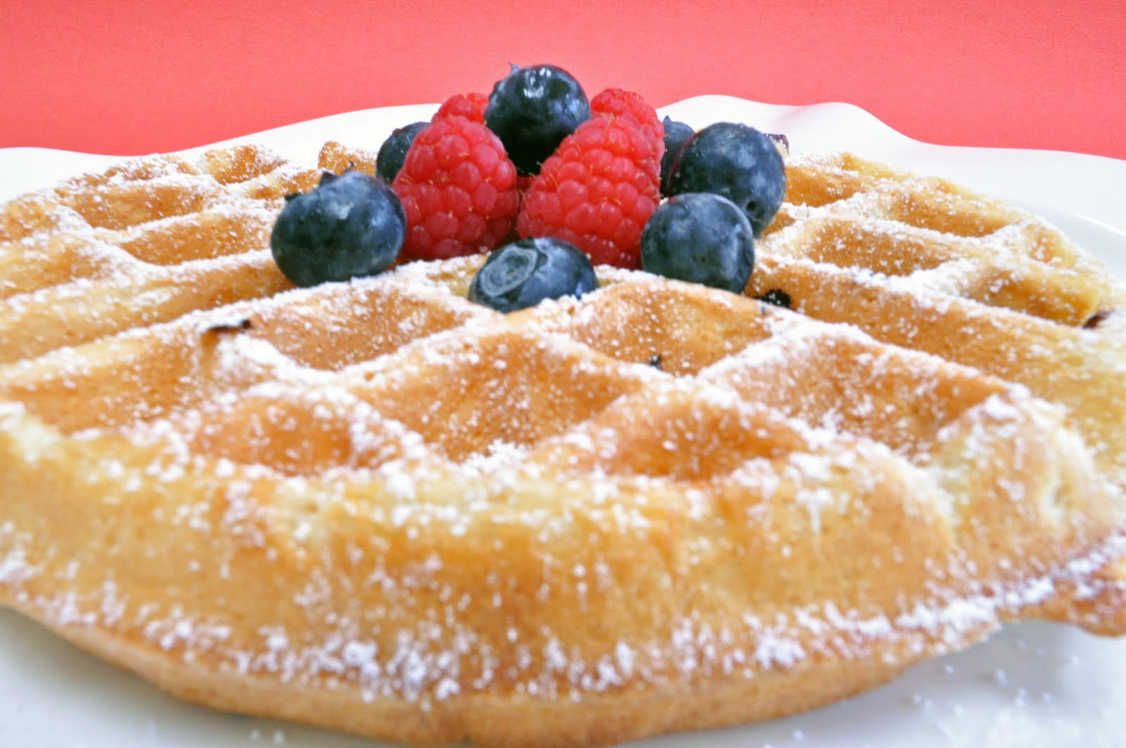 All That's Left Are The Crumbs: Red, White & Blue Waffles
