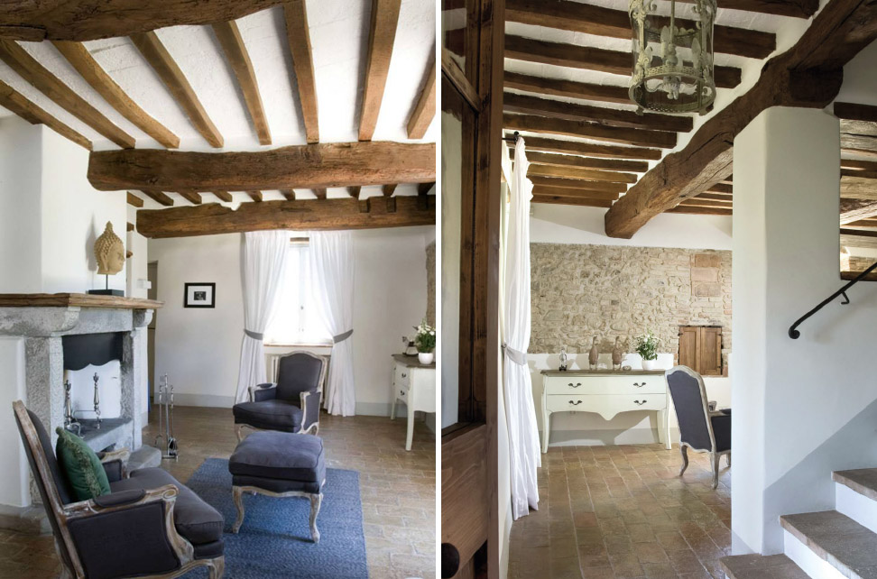 Rustico chic shabby chic interiors for Case in stile castello francese
