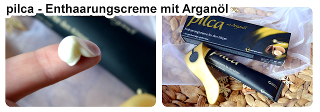 Review pilca Enthaarungscreme mit Arganöl - die Creme in der Nahaufnahme