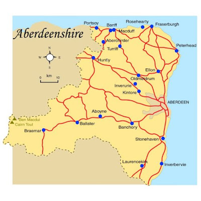 Map of Aberdeenshire Province Pictures