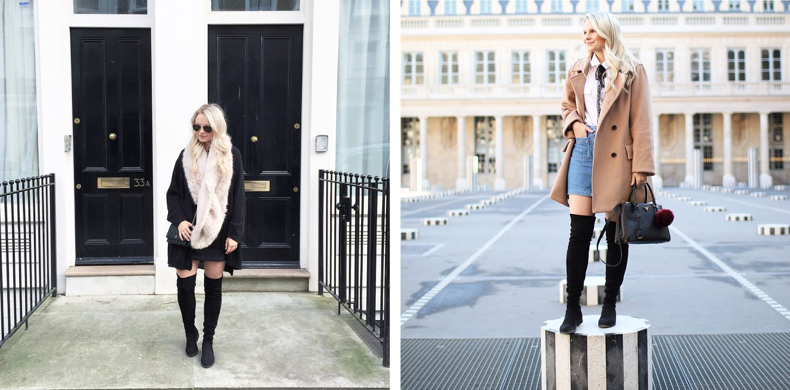 trendy over the knee boots worn in london and paris