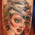 Wolflady tattoo