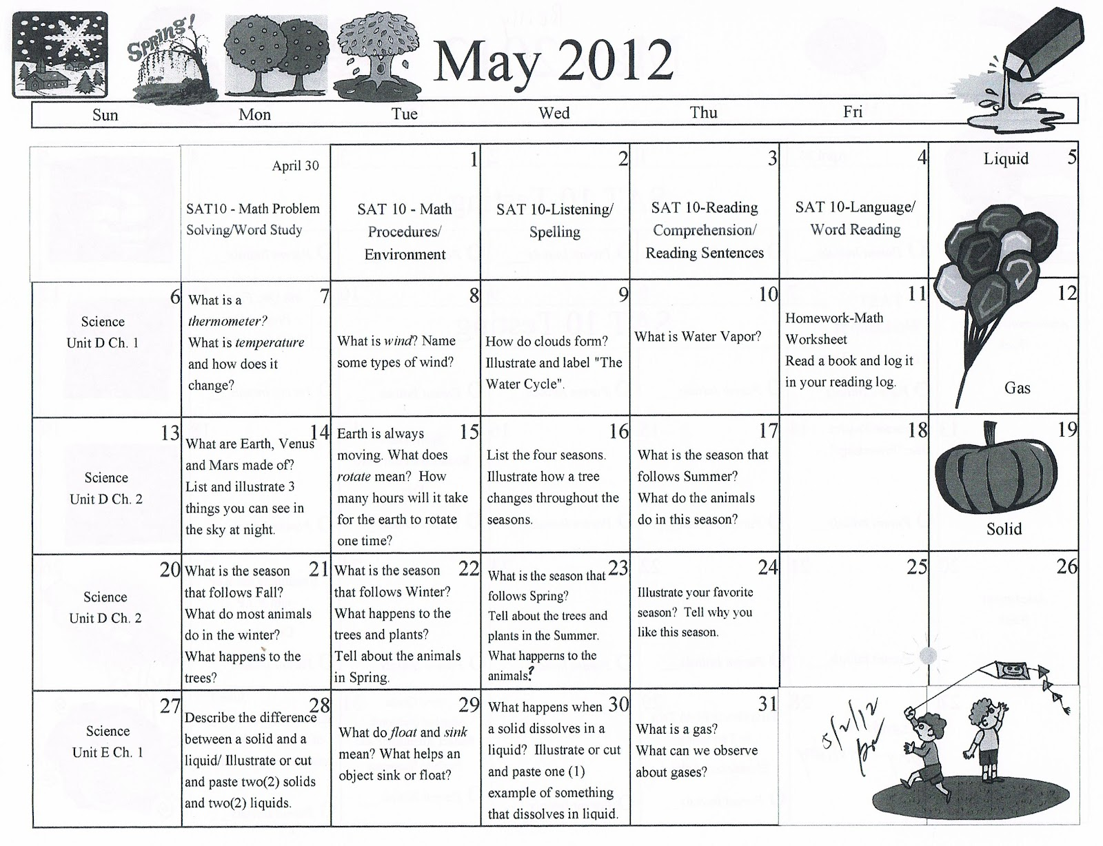 Calendar Activities For First Grade : Calendar math printables first grade ideas about