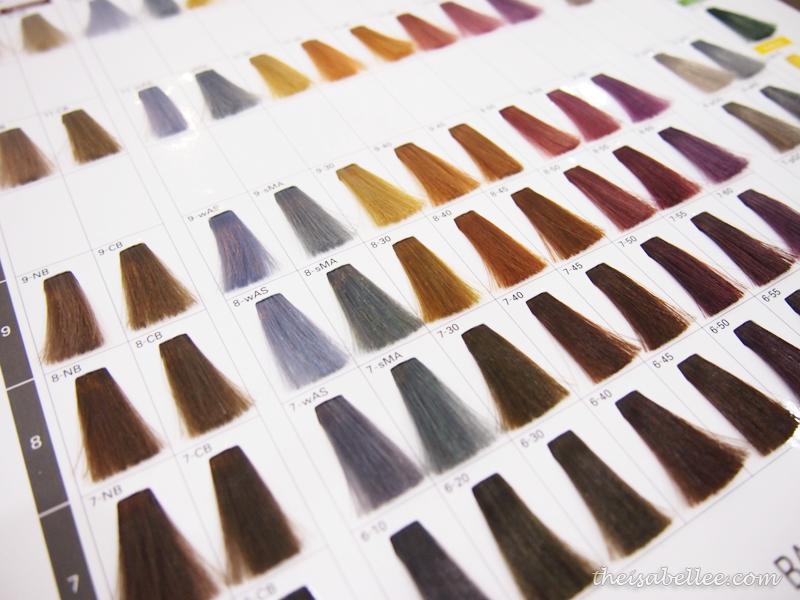 Milky colour hair dye from Milbon Japan